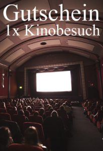 Gutscheinvorlage Kinobesuch