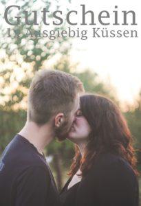 Gutscheinvorlage Küssen