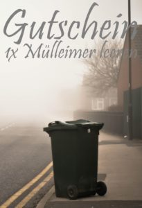 Gutscheinvorlage Mülleimer leeren