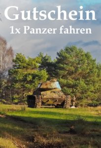 Gutscheinvorlage Panzerfahrten