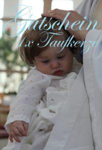 Gutscheinvorlage Taufe
