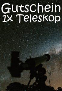 Gutscheinvorlage Teleskop