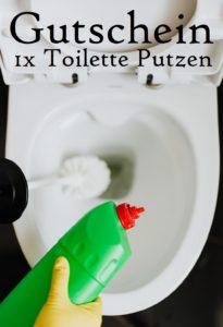 Gutscheinvorlage WC putzen