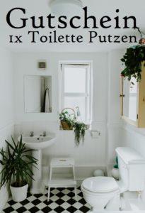 Gutscheinvorlage Toilette putzen