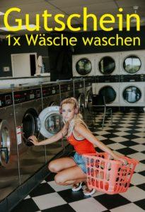 Gutscheinvorlage Wäsche waschen