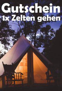 Gutscheinvorlage Zelten gehen