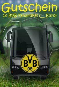 Gutscheinvorlage Dortmund Fanartikel