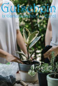 Gutscheinvorlage Gartenzubehör