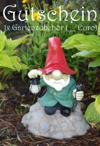 Gutscheinvorlage für den Garten