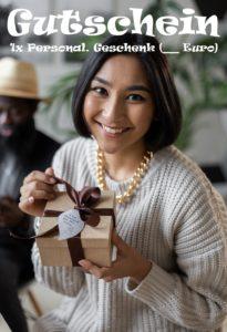 Gutscheinvorlage Personalisierte Geschenke