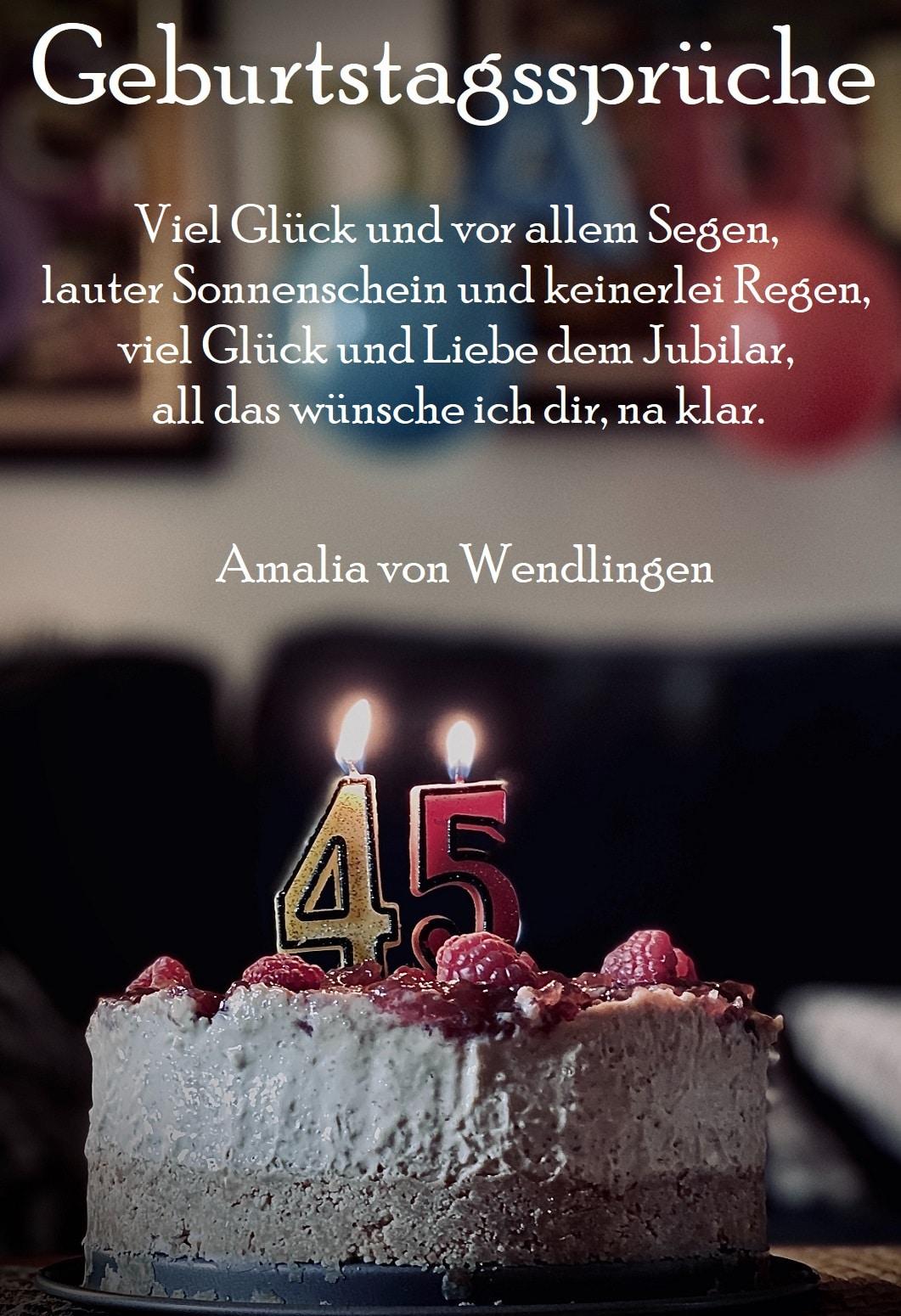 Geburtstagssprüche verwenden