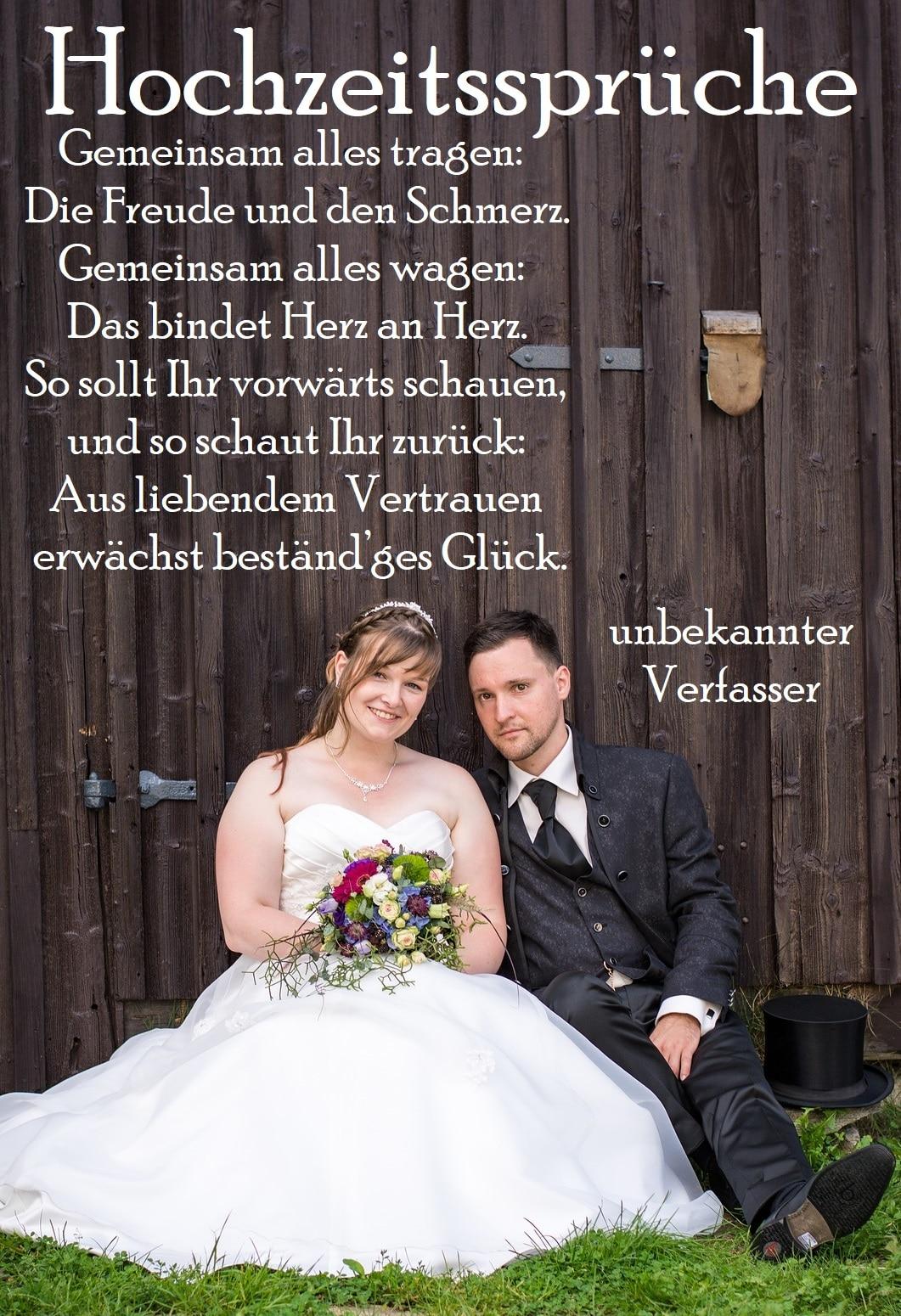 Hochzeitsspruch verwenden