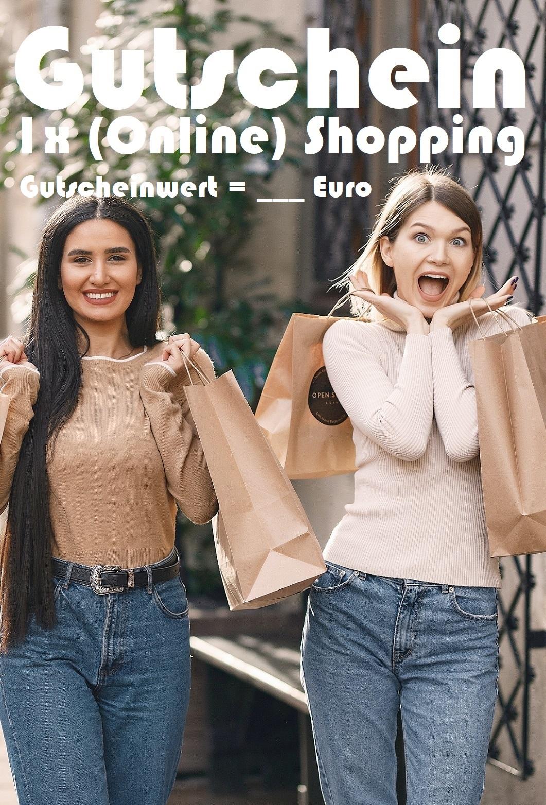 Gutscheinvorlage fürs Shopping
