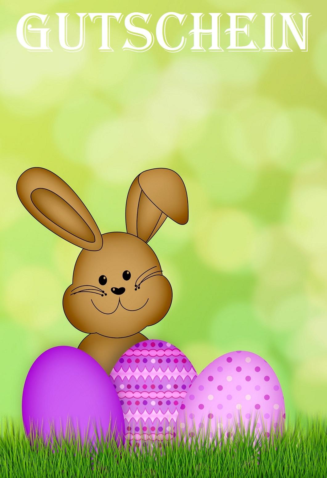 Gutscheinvorlage Ostern
