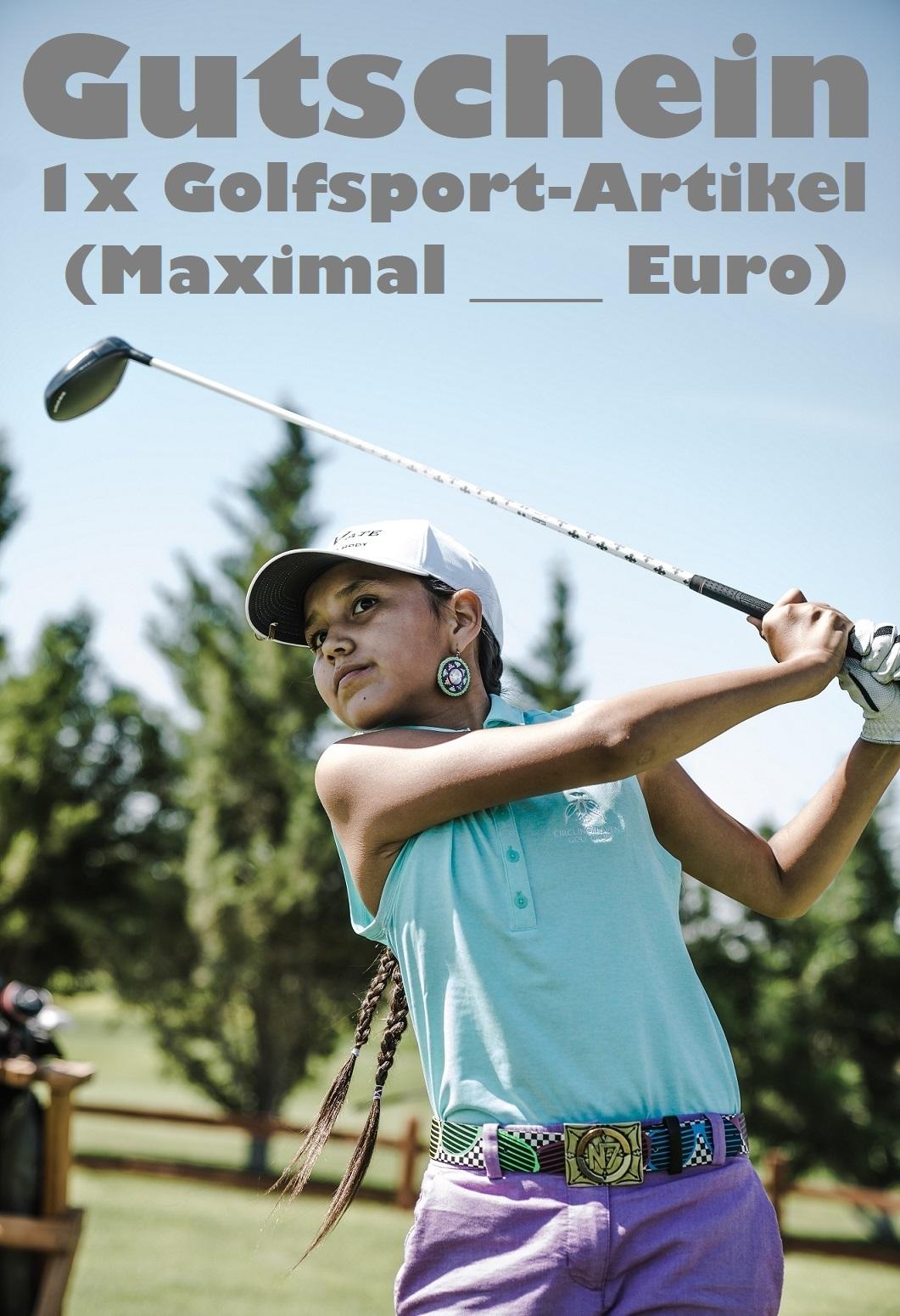 Gutscheinvorlage für den Golfsport