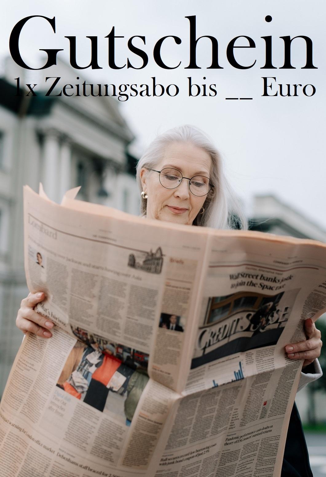 Gutscheinvorlage für Zeitungsabos