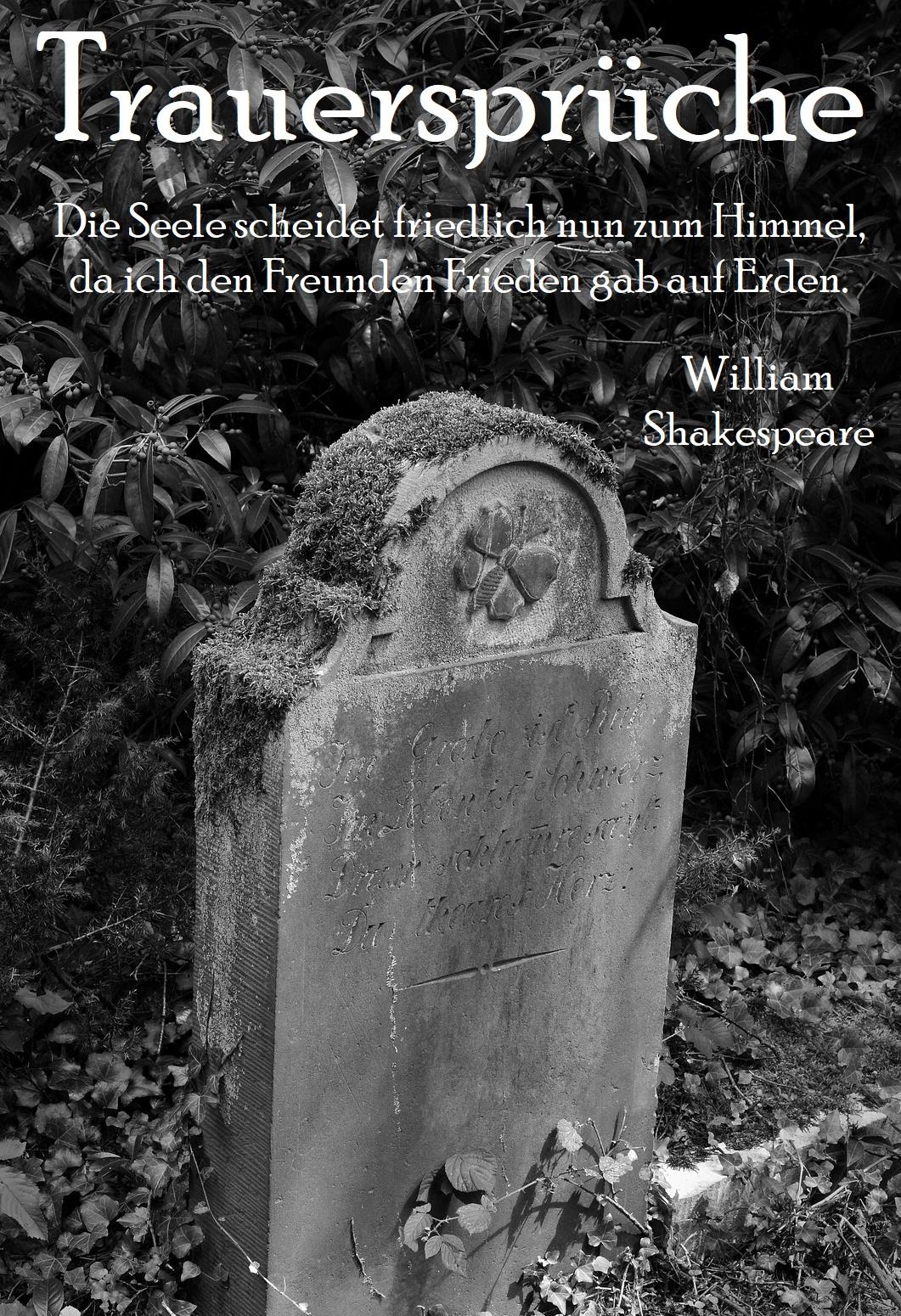 Trauerspruch verwenden