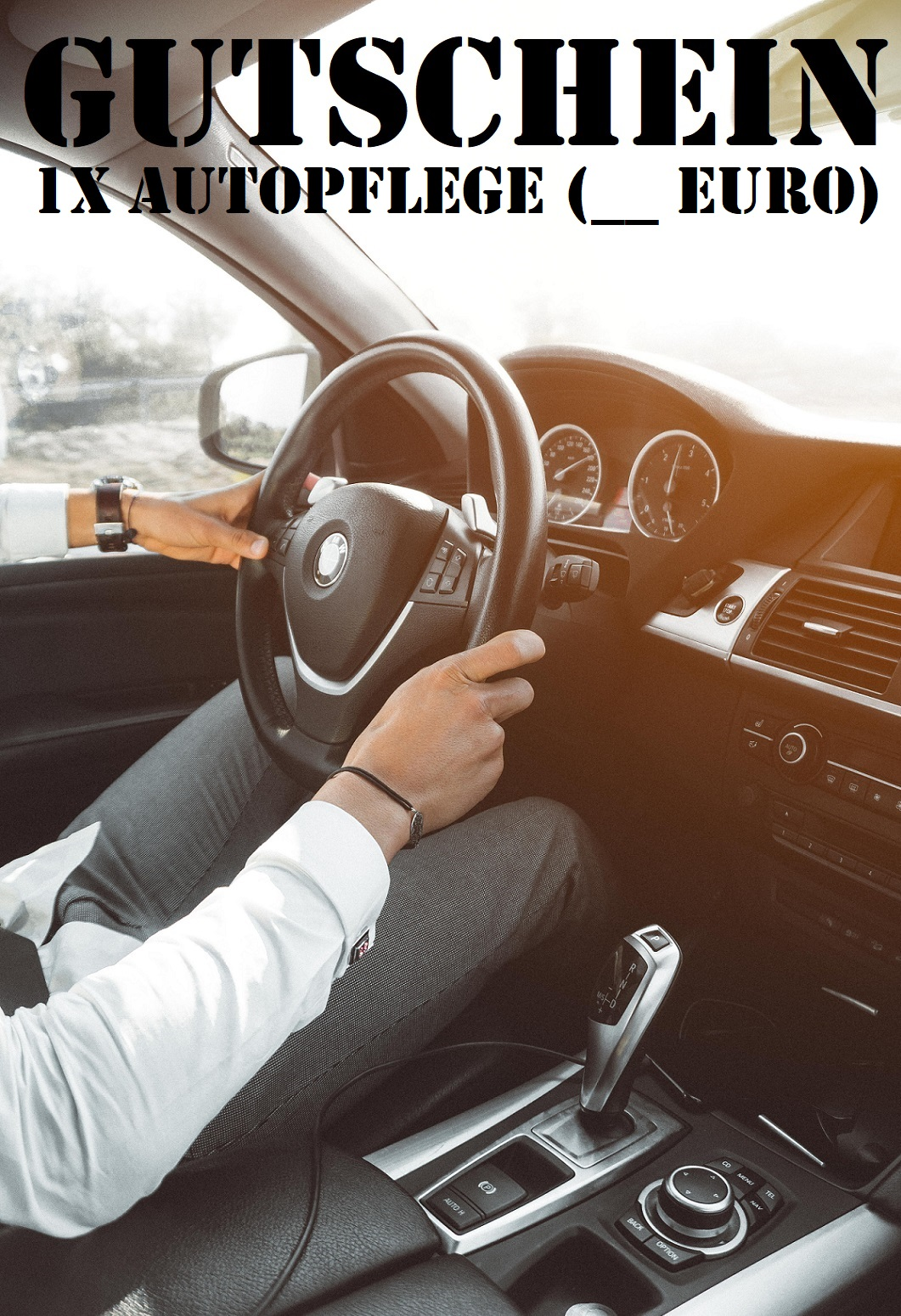 Gutscheinvorlage für die Autopflege
