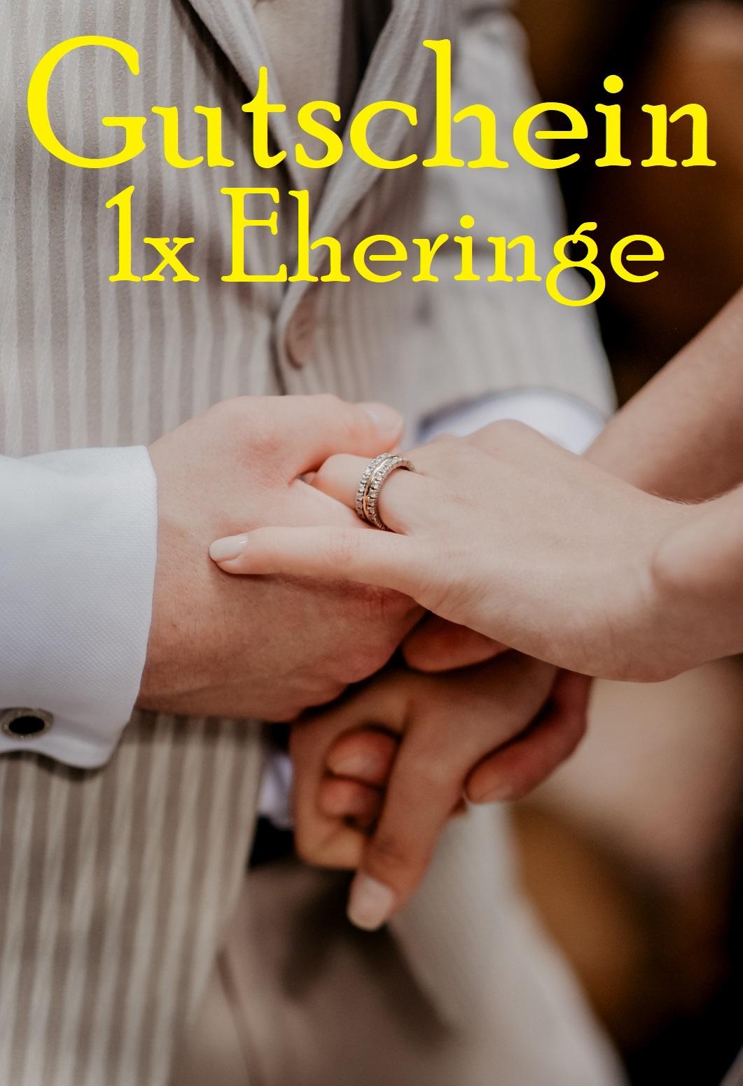 Gutscheinvorlage für Eheringe