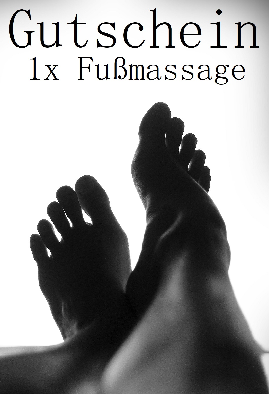 Gutscheinvorlage für Fußmassagen