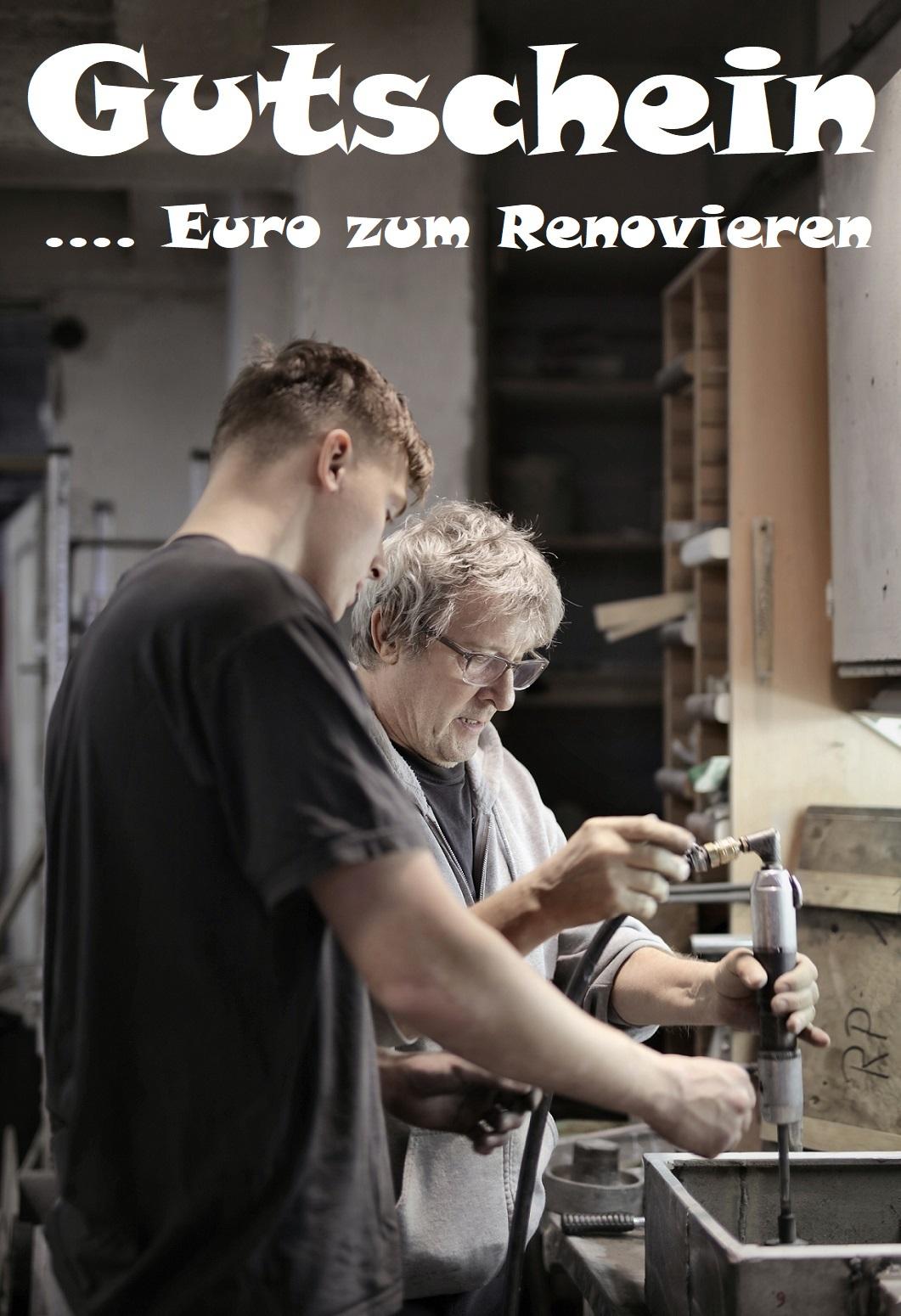 Gutscheinvorlage fürs Renovieren