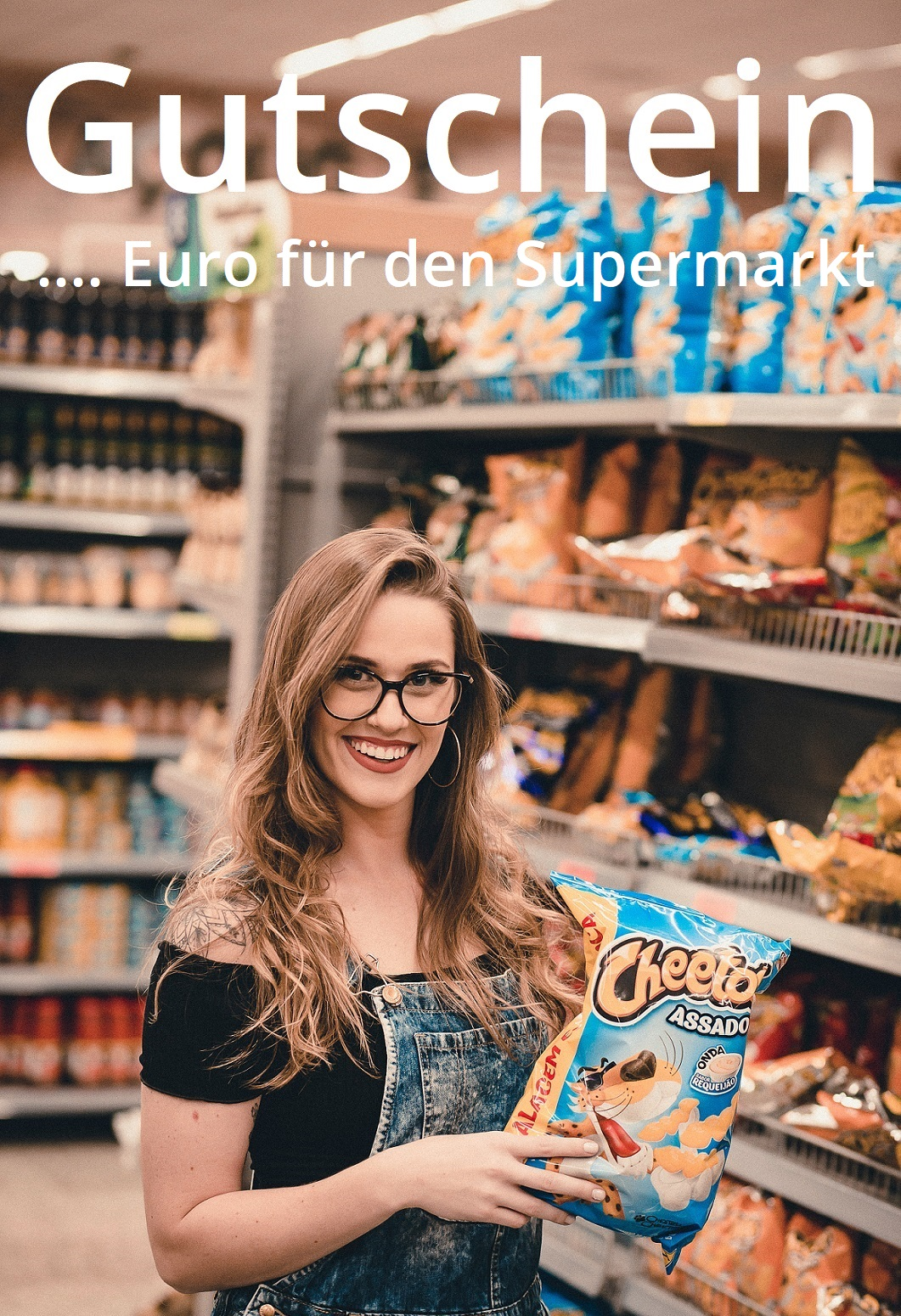 Gutscheinvorlage für Supermärkte