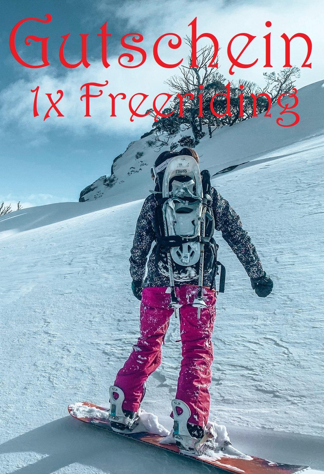 Gutscheinvorlage fürs Freeriding