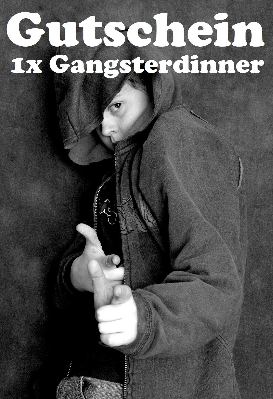 Gutscheinvorlage fürs Gangsterdinner