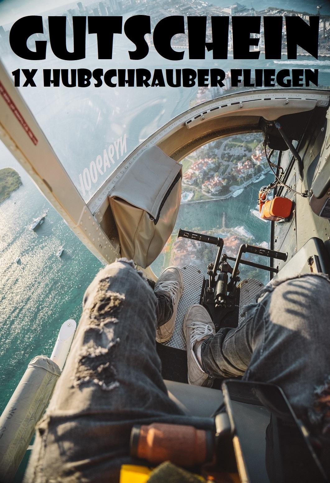 Gutscheinvorlage fürs Helikopter selbst fliegen