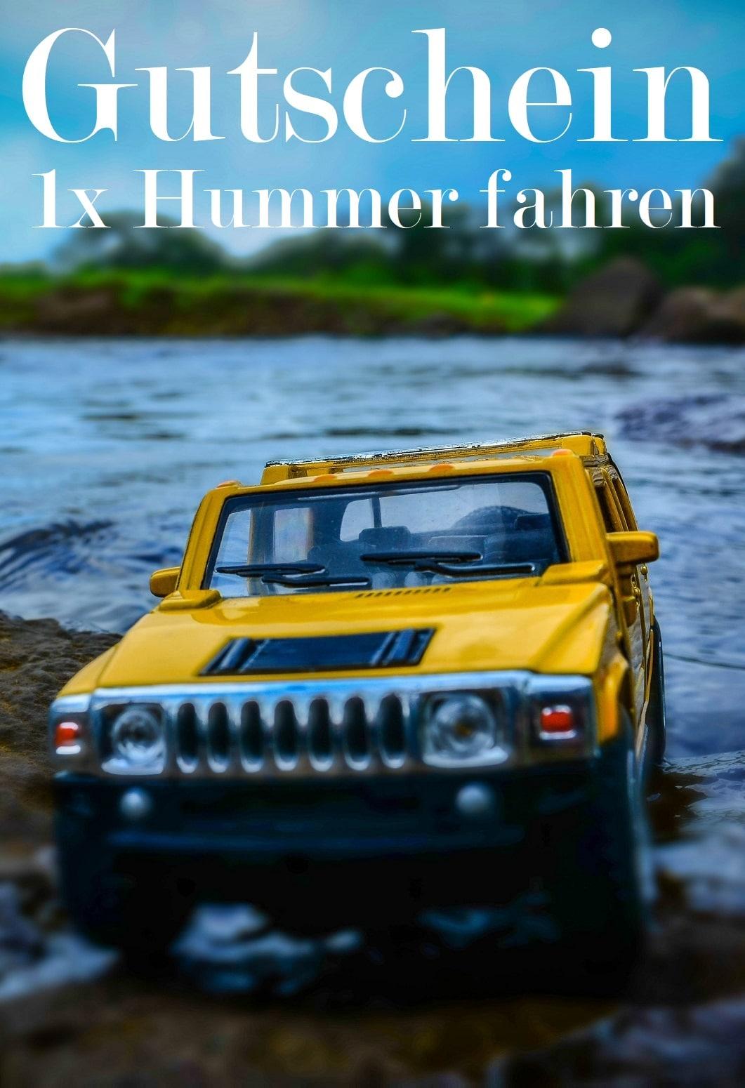 Gutscheinvorlage fürs Hummer fahren