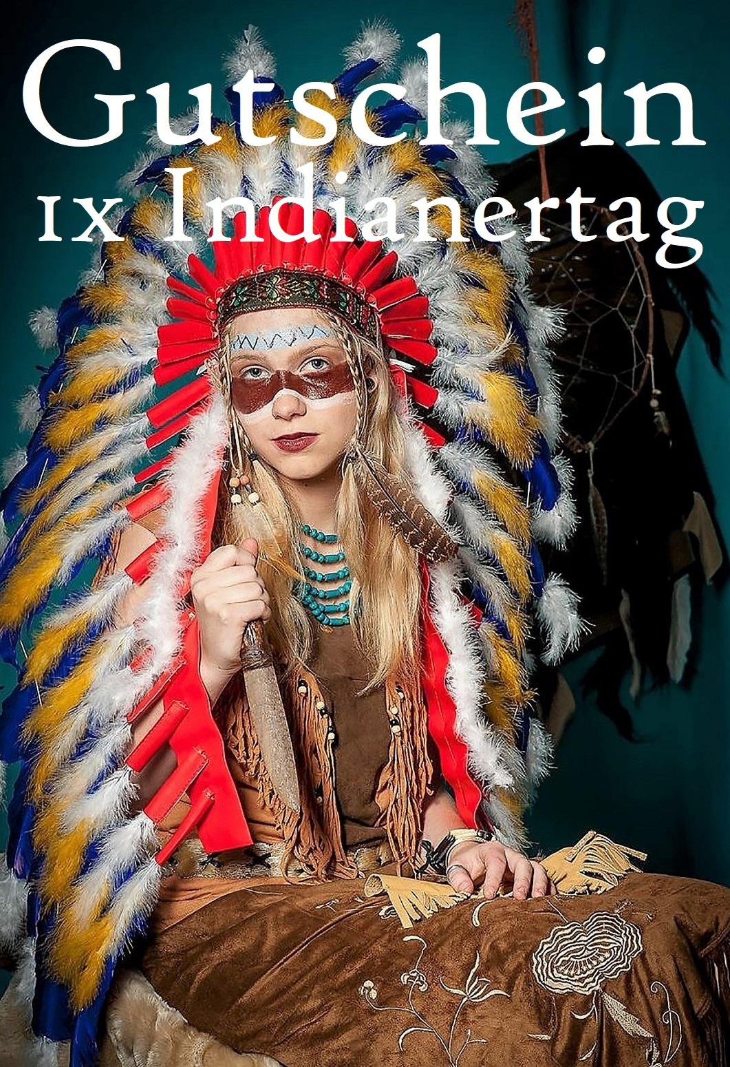 Gutscheinvorlage für Indianertage