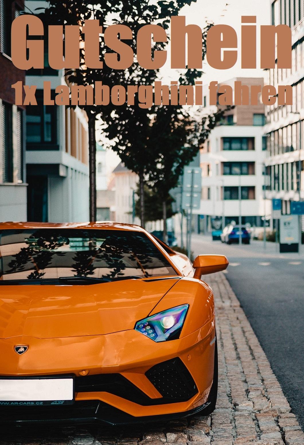 Gutscheinvorlage fürs Lamborghini fahren