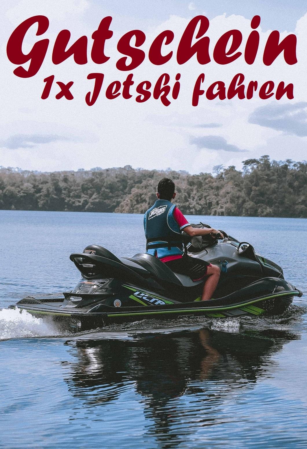 Gutscheinvorlage fürs Jetski fahren