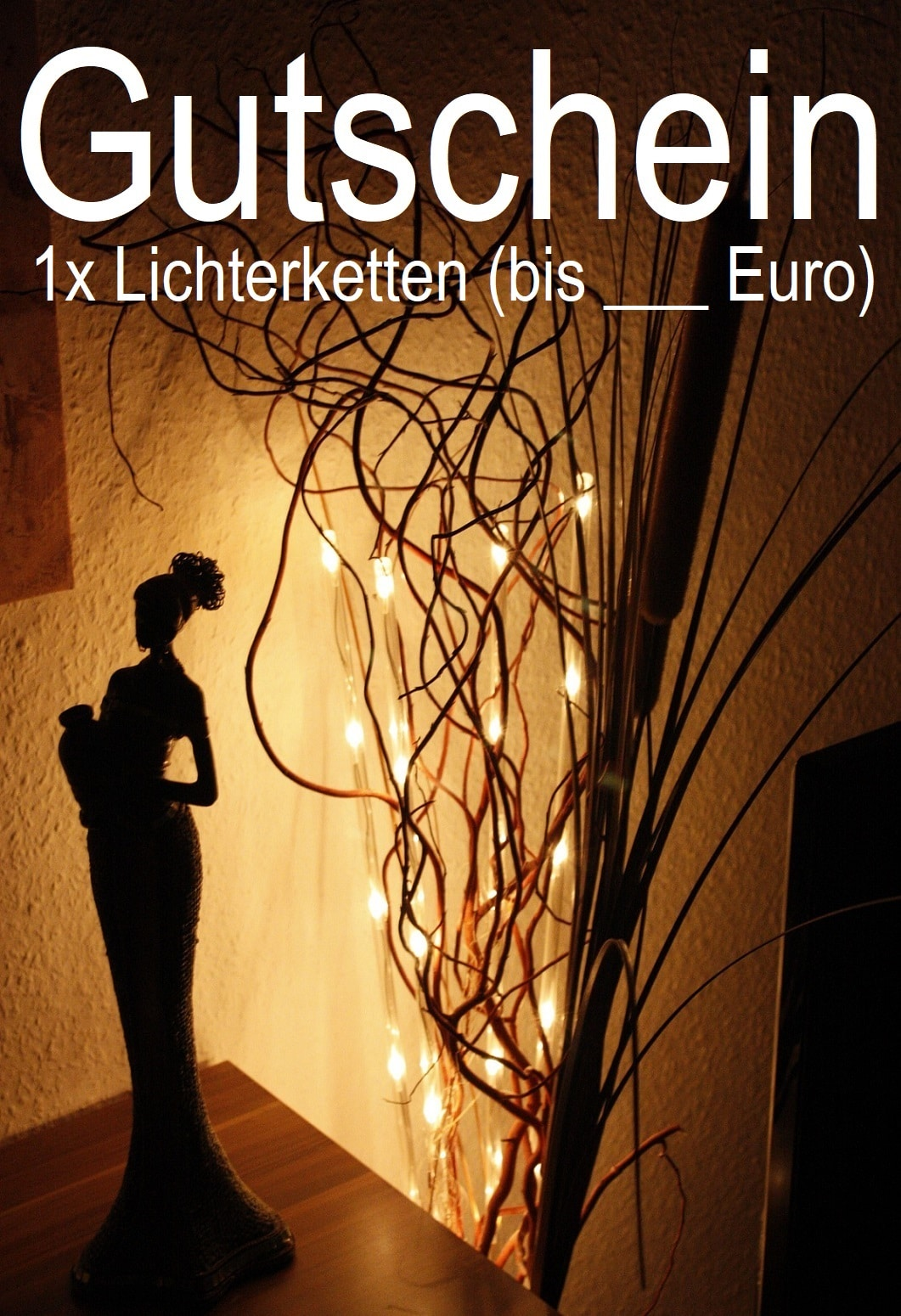 Gutscheinvorlage für Lichterketten