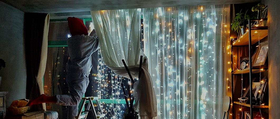 Lichterketten im Haus